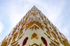 Yellow Pagoda corner stock photography