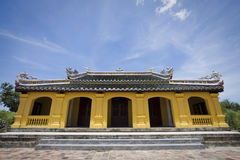 Yellow pagoda in hue Stock Image