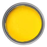 Yellow paint Stock Images