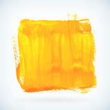 Yellow paint artistic dry brush stroke vector background Stock Photos