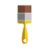 Yellow paint brush icon in degrade. Vector illustration Royalty Free Stock Photos