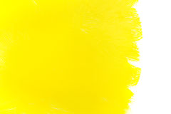 Yellow paint brush strokes Stock Images