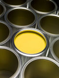 Yellow Paint can Royalty Free Stock Images