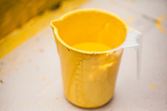 Yellow Paint Can Royalty Free Stock Photos