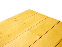 Yellow Paint Coated Wooden Boards Stock Photography