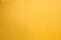 Yellow paint concrete wall texture background Royalty Free Stock Image