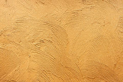 Yellow paint concrete wall texture background.  Stock Image
