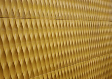 Yellow paint Corrugated Metal Royalty Free Stock Photo
