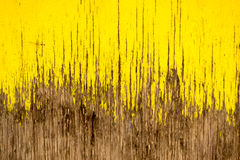 Yellow Paint Cracked Wood Royalty Free Stock Photography