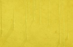Yellow Paint Drip Wall Texture Background Stock Photo
