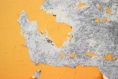 Paint falling off wall Royalty Free Stock Photo