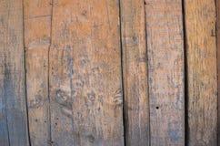 Yellow paint mottled wooden door Stock Photo