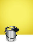 Yellow paint pot background Royalty Free Stock Photos