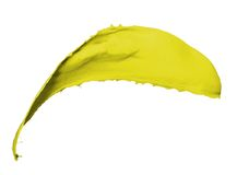 Yellow paint splash Royalty Free Stock Photography