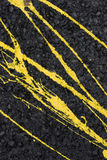 Yellow paint on the wall Royalty Free Stock Photo