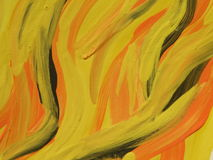 Yellow painted abstract Stock Image