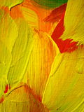 Yellow painted abstract Royalty Free Stock Photography