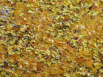 Yellow painted abstract Stock Photography