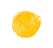 Yellow painted circle Stock Images