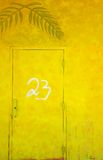 Yellow Painted Door Stock Photo