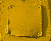 Yellow painted metal background Stock Photo