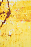 Yellow painted metal with rust texture Stock Photo