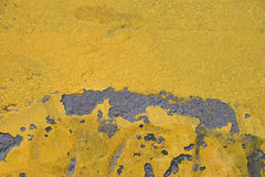 Yellow painted rough concrete wall texture Royalty Free Stock Photo