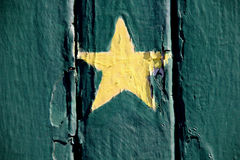 Yellow Painted Star Royalty Free Stock Photo