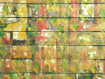 Yellow painted wall Royalty Free Stock Photos