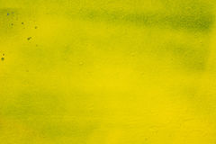 Yellow painted wall background texture Royalty Free Stock Photo