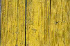 Yellow painted wooden planks Stock Photography