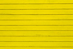 Yellow painted wooden wall Royalty Free Stock Images