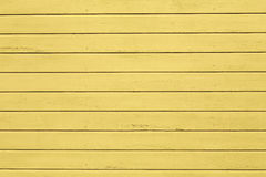 Yellow painted wooden wall Stock Photography