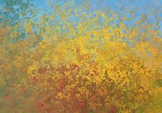 Yellow, Painting, Sky, Impressionist Royalty Free Stock Photography