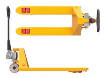Yellow pallet jack Stock Photos