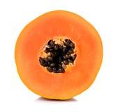 Yellow papaya isolated on white background Royalty Free Stock Photos