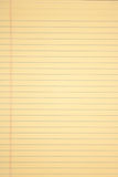 Yellow paper. Vertical legal pad or yellow paper Royalty Free Stock Photography