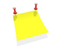 Yellow paper Royalty Free Stock Photos