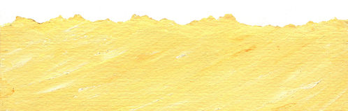 Yellow paper background with torn edge. Acrylic illustration of Yellow paper background with torn edges Stock Photos
