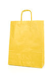 Yellow paper bag Stock Photo