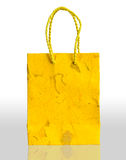 Yellow paper bag Royalty Free Stock Photos