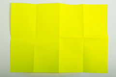 Yellow A4 paper Stock Photography