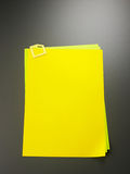 Yellow paper Stock Photo