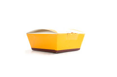 Yellow paper box Royalty Free Stock Photos