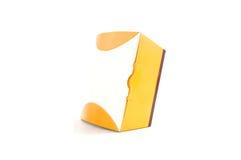 Yellow paper box Stock Photography