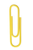 Yellow paper clip Stock Images