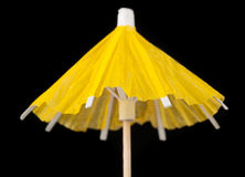 Yellow Paper Cocktail Umbrella Royalty Free Stock Images