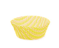Yellow paper cupcake cup isolated Stock Photography
