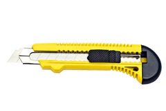 Yellow paper cutter Royalty Free Stock Image