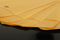 Yellow paper envelopes Stock Photo